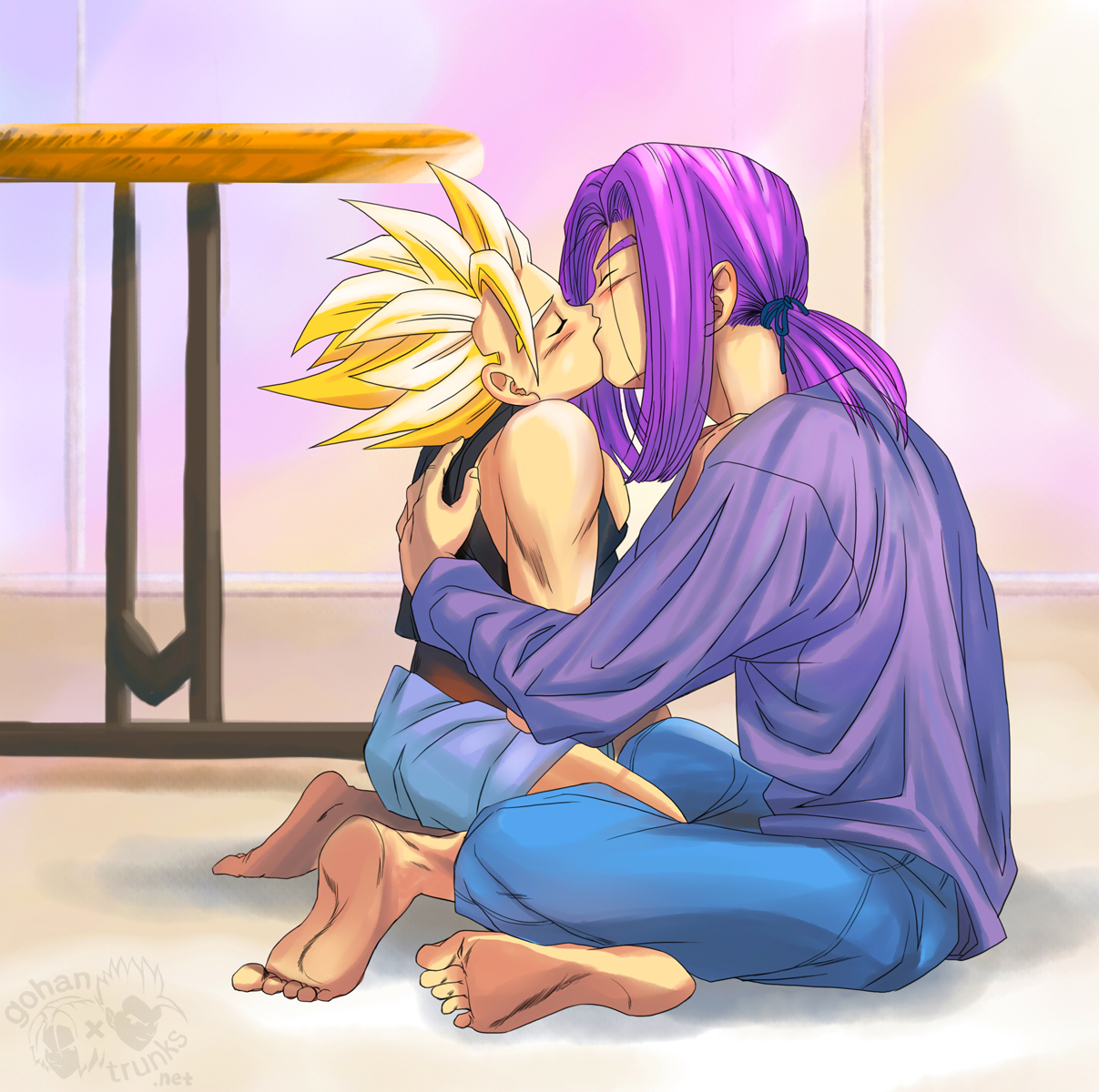 Gohan and trunks have sex