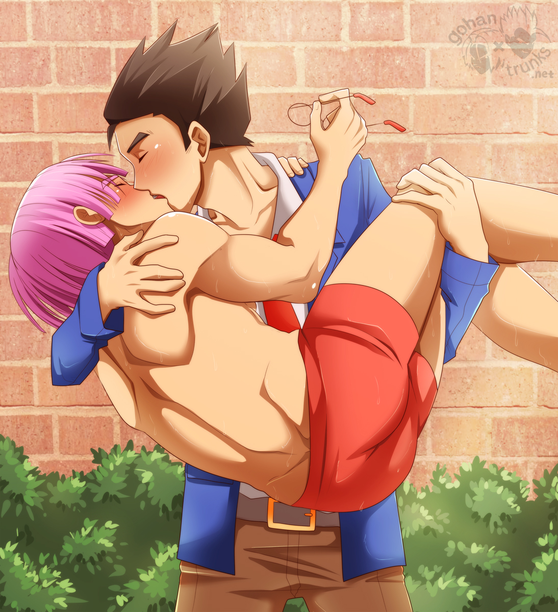 Trunks having sex with gohan