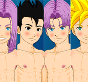 Fellatio Practice  - DBZ Yaoi Flash Animation