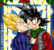 Christmas Kissing : The Saiyajin Fathers Way