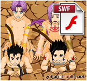 DBZ Yaoi Flash Animation : Full Frontal Orgy